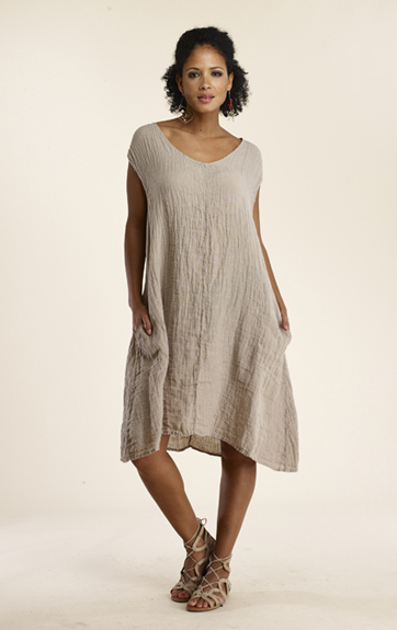 5ccbc1acac Luna Luz Garment Dyed Linen Gauze Dress - LunaLuz.net